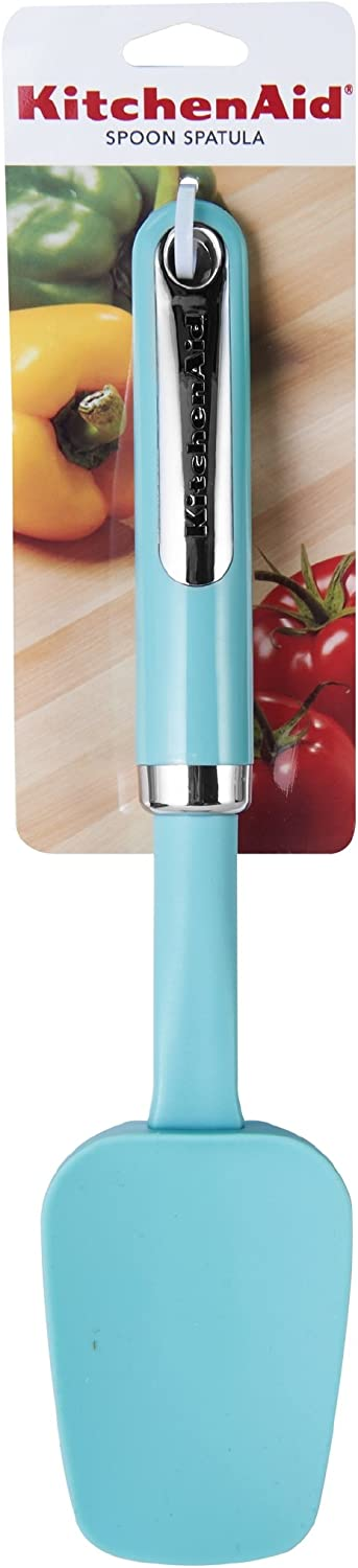Ocean Blue KitchenAid Gourmet Silicone Spoon Spatula with Cherry Wood Handle