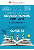 Oswaal CBSE Solved Papers Class 12 Accountancy Chapterwise and Topicwise (For March 2019 Exam)
