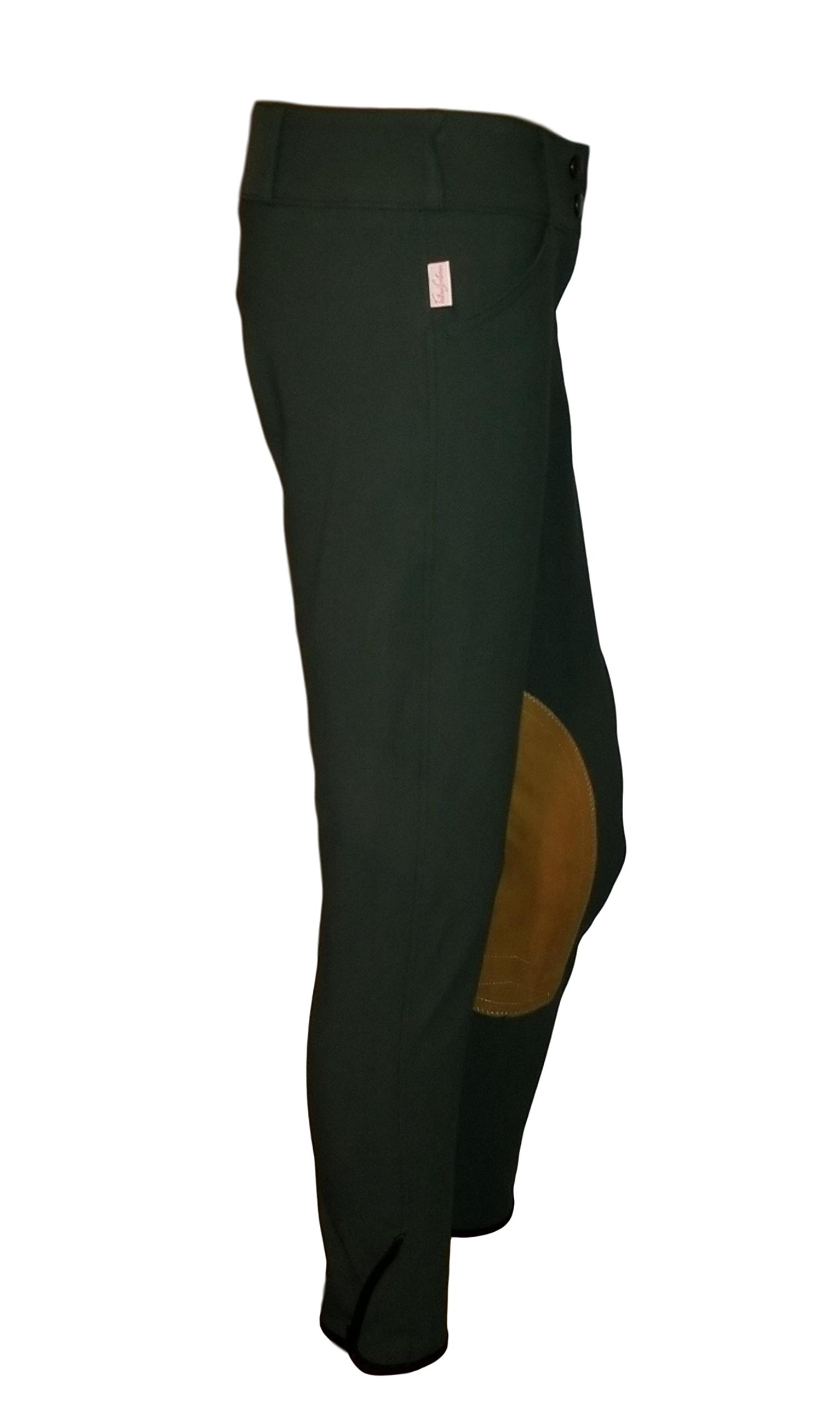 Tailored Sportsman Ladies Trophy Hunter Mid Rise Front Zip 1963 (Black Forest/Tan, 32R)