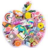 Resin Flatback Charms, 100pcs Slime Charms and Containers Mixed Candy Cake Sweets Resin Cabochons for DIY Crafts, Scrapbooking, Jewelry Making