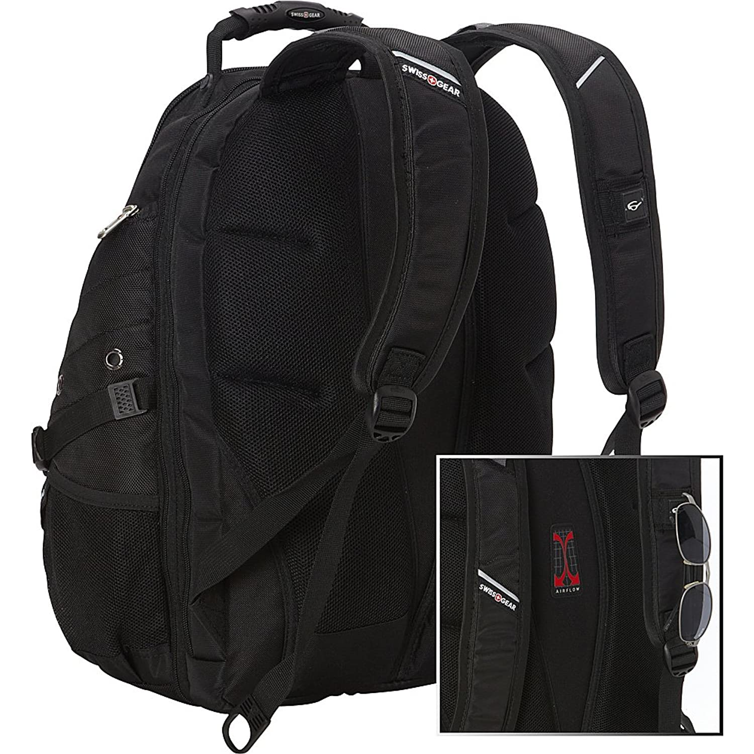 Amazon.com: SwissGear 1900 Scansmart TSA Laptop Backpack - Black ...