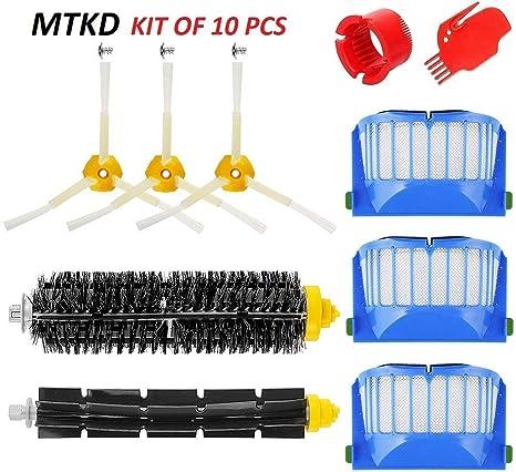 MTKD® Kit Cepillos Repuestos Compatible con iRobot Roomba Serie ...