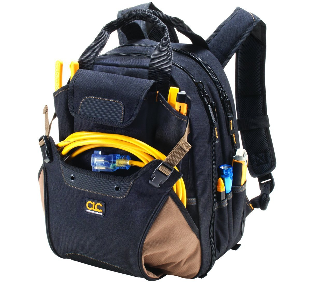 CLC 1134 Carpenter's Tool Backpack with 44 Pockets and Padded Back Support by Custom Leathercraft (Image #7)