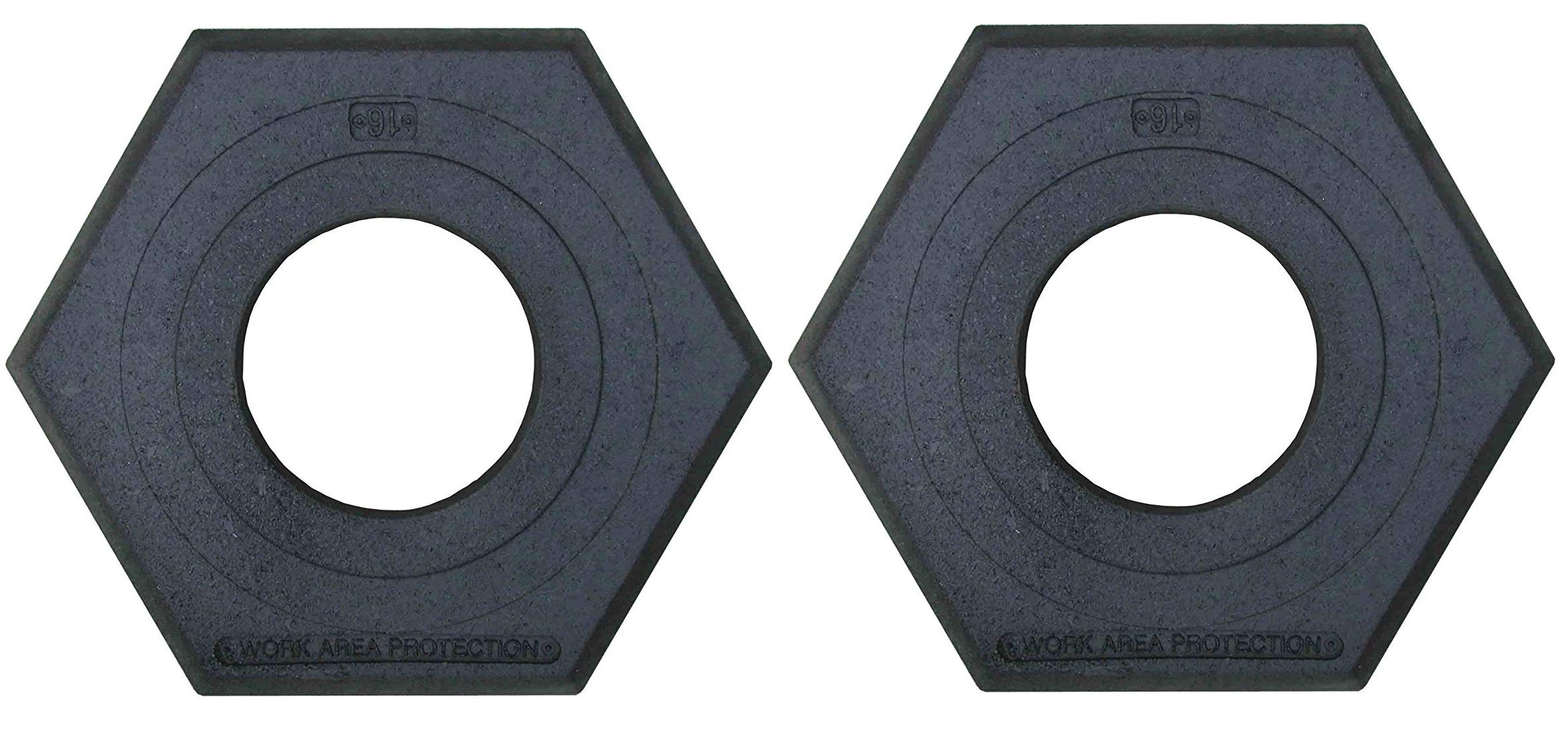Work Area Protection CB-16 Rubber Channelizer Cone Base, 2.4'' Height, 16 lbs (Тwo Рack)