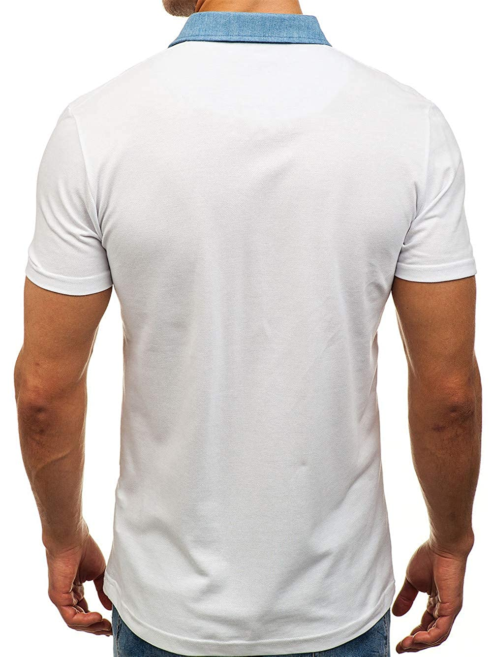 HWT8 Polo Shirt for Men Short-csfleeve Quick-csfry Casual Slim Fit Cotton