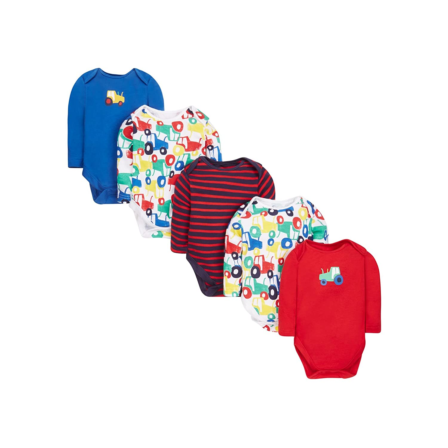 Mothercare Tractor Bodysuits - 5 Pack Multi Up to One Month (Manufacturer Size:56) MC215