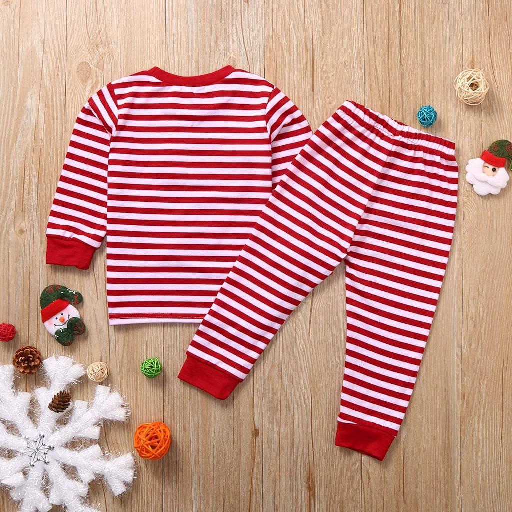 Hose Pyjamas Kinder Nachtw/äsche Outfits Set Christmas Costume Kleinkind Baby Schlafanzug TTLOVE Weihnachten Langarm Baumwolle Plaid Tops