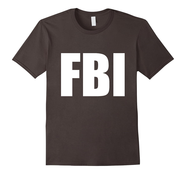 FBI Replica Agent Inspector Funny Halloween Costume T-Shirt-Vaci