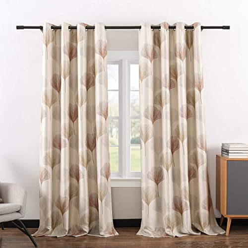 Editors' Choice: VOGOL Classic Ginkgo Leaf Printed Blackout Curtains Thermal Insulated