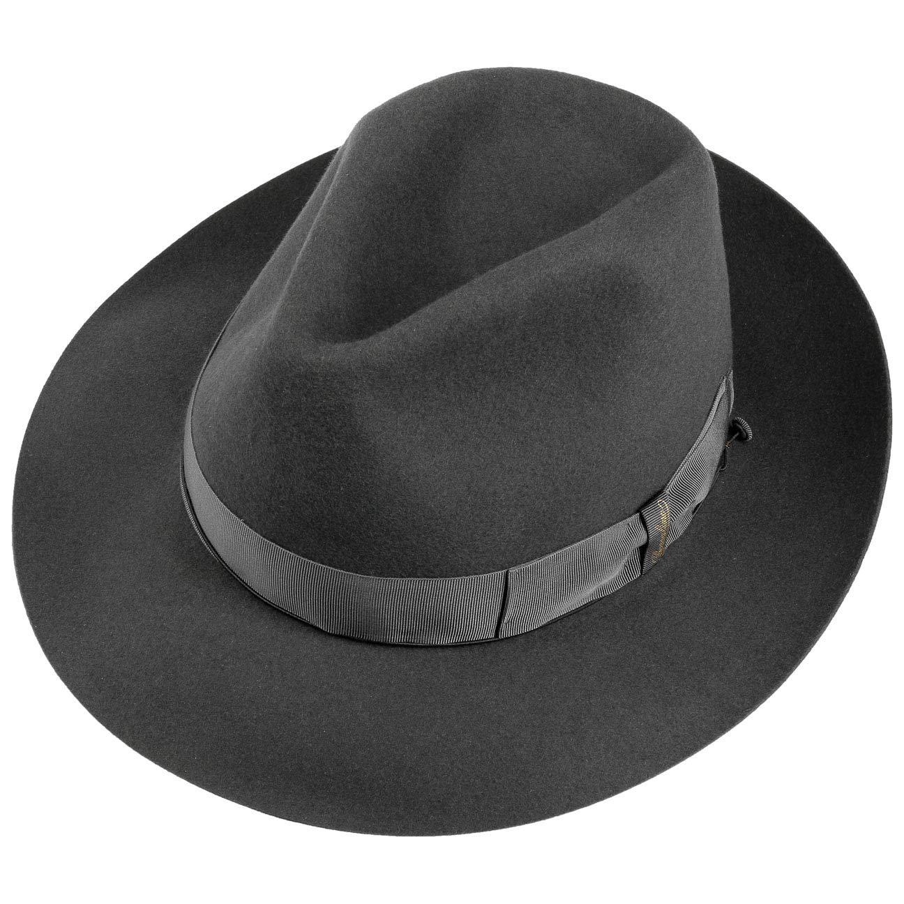 Borsalino Sombrero Fedora 50 Gramos by Sombreros de fieltrosombrero Hombre  (60 cm - Gris Oscuro)  Amazon.es  Ropa y accesorios 28d64488a1a