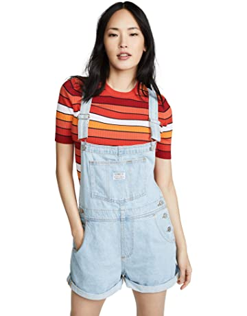 fda3fb95ed5467 dollhouse Women s Size Blizzard Blue Plus Denim. Levi s Women s Vintage  Look Shortalls