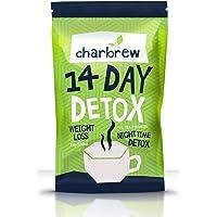 Charbrew Night Time Tea Detox 14 Days Weight Loss Tea (No Laxative Effect)