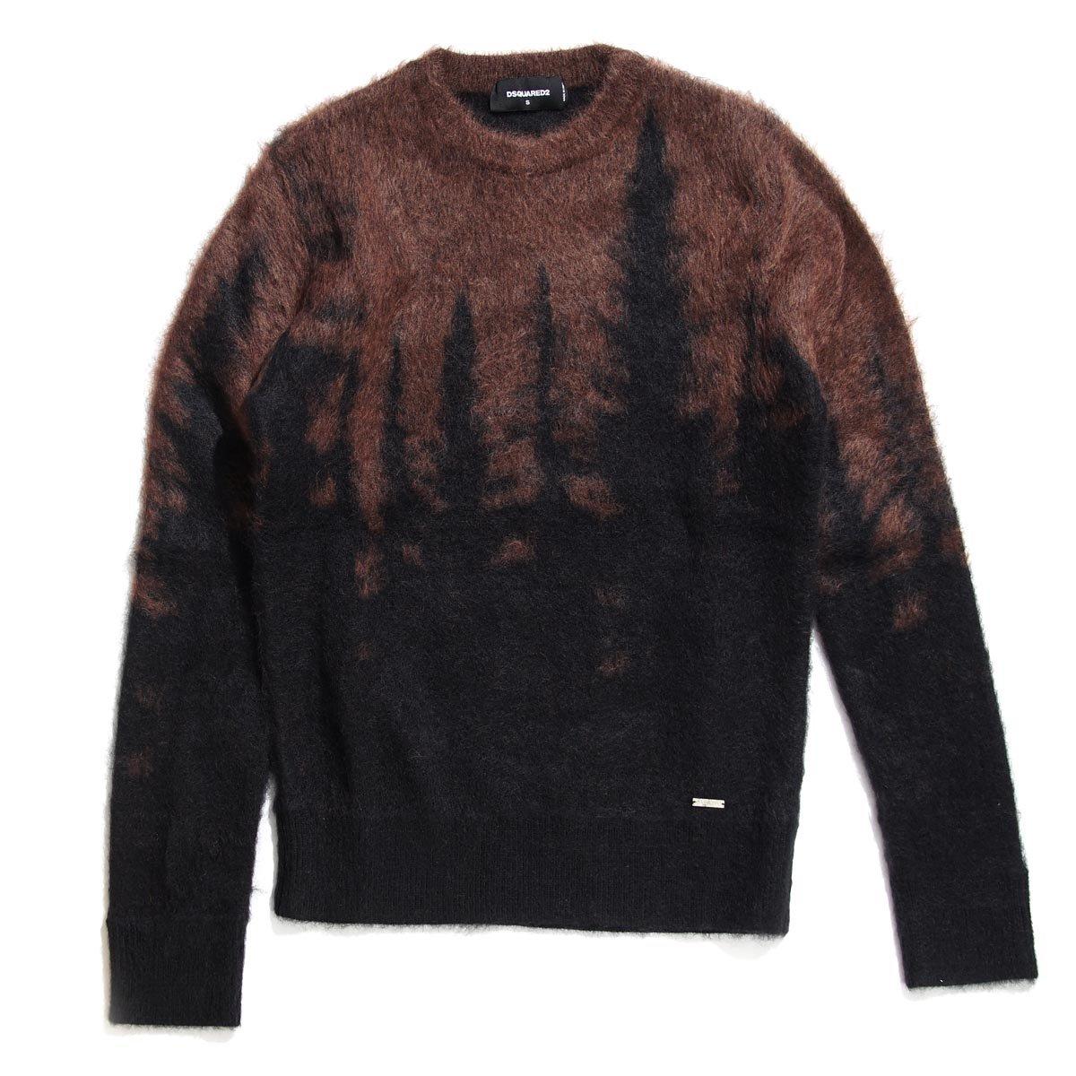 (ディースクエアード) DSQUARED2 モヘア セーター [並行輸入品] B073B7GCTS S ブラウン ブラウン S