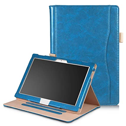new products a973b 136b2 Robustrion Smart Multipurpose Folio Flip Stand Case Cover for Lenovo Tab 4  10 - Blue