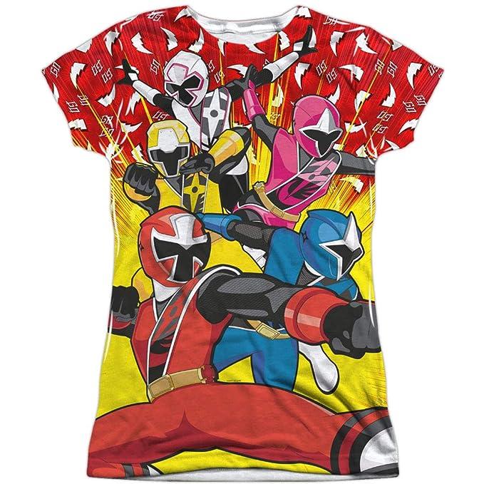 Amazon.com: Power Rangers - Juniors T-shirt Go Go Ninja ...