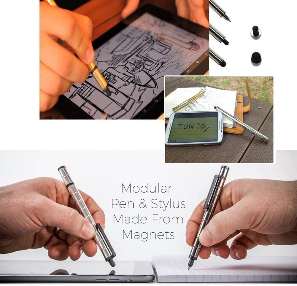 Capacitive Pen Black Baymart Magnetic Metal Pen iPhone iPad Touch Screen Pen,Birthday Gift pen for Kids Decompression Creative Fidget Toy for Students office worker Designer Writing