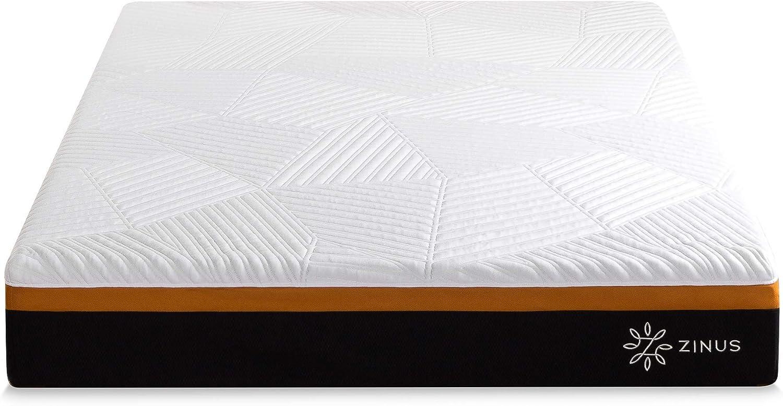 Zinus Colchón híbrido fresco y adaptable de 25,5 cm con ...