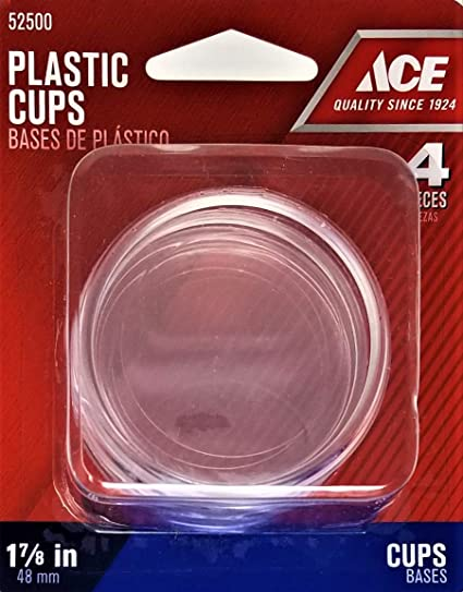Ace Plastic Cups, 1-7/8 in  ID~2 in  OD, 4 Pack - Furniture