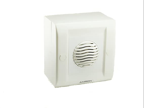 AMRON Surface Mounting Bird Voice Door Bell, Small (White)