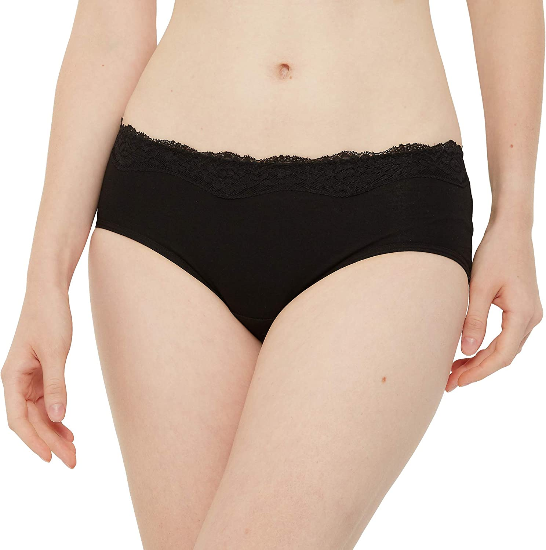 INNERSY Unterhosen Damen Baumwolle Sexy Spitze Hipster Weich Panties 6er Pack