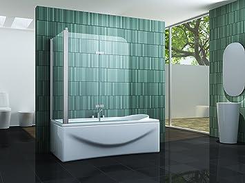 Eck-Duschtrennwand PERINTO 75 (Badewanne): Amazon.de: Baumarkt