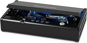 SentrySafe QAP2BLX Quick Access Pistol Safe, New Version: 2 Gun Capacity & Interior Light