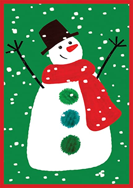 entertaining with caspari happy snowman christmas cards box of 16