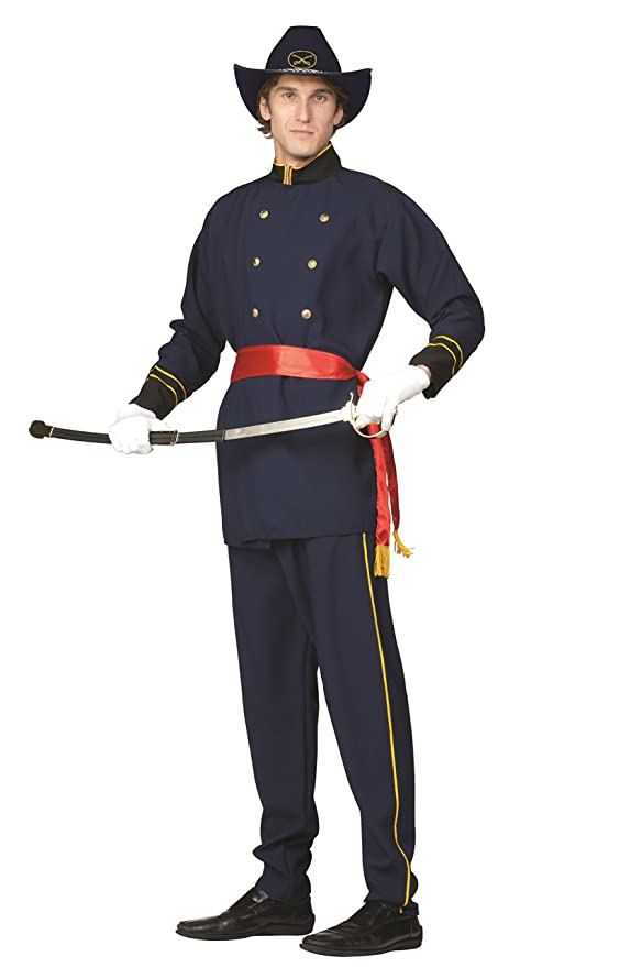 Victorian Men's Costumes: Mad Hatter, Rhet Butler, Willy Wonka Adult Union Officer Costume - Sword scabbard hat and shoes not included. $31.81 AT vintagedancer.com