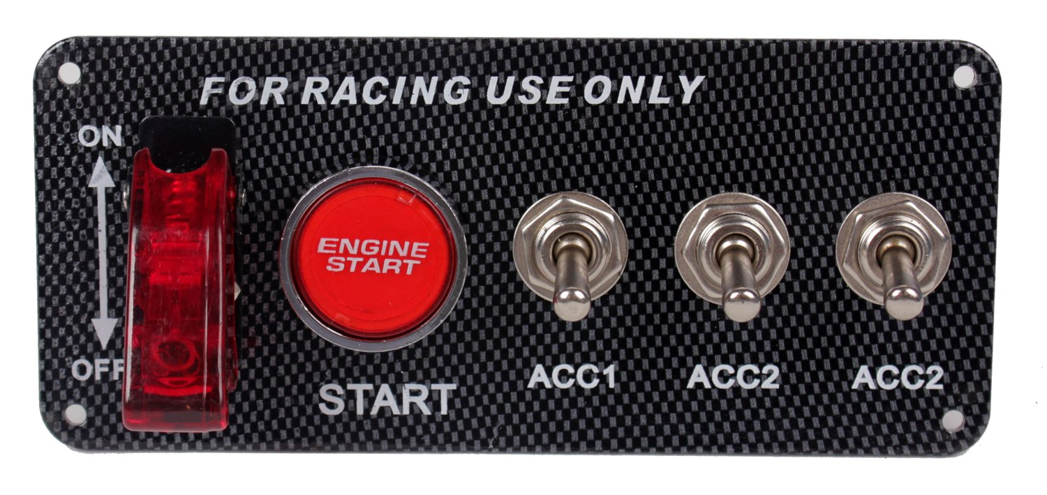 Dc12v Ignition Switch Panel 5 In 1 Car Engine Start Push On Wiring Diagram Button Led Toggle For Racing Electronics