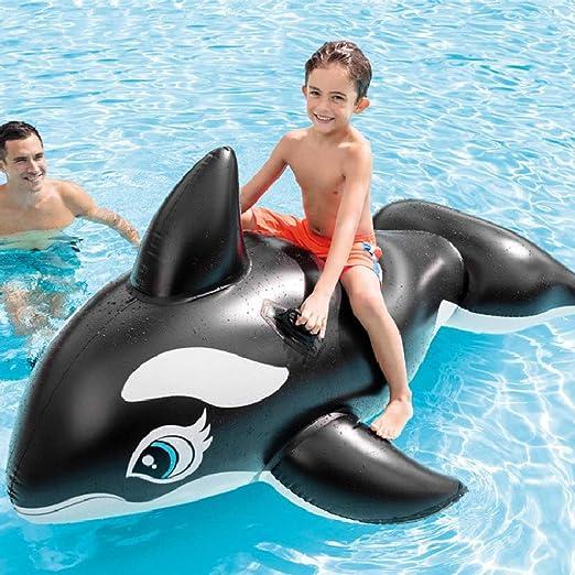 Ballena Inflable de Gran tamaño, Ballena Negra, Flotante Inflable de PVC Verde Grueso salón de la Piscina Piscina Sillón acuático Montaje en Agua -193 * 119 cm: Amazon.es: Hogar