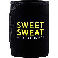 Sports Research Sweet Sweat Premium Waist Trimmer (Yellow Logo) for Men & Women