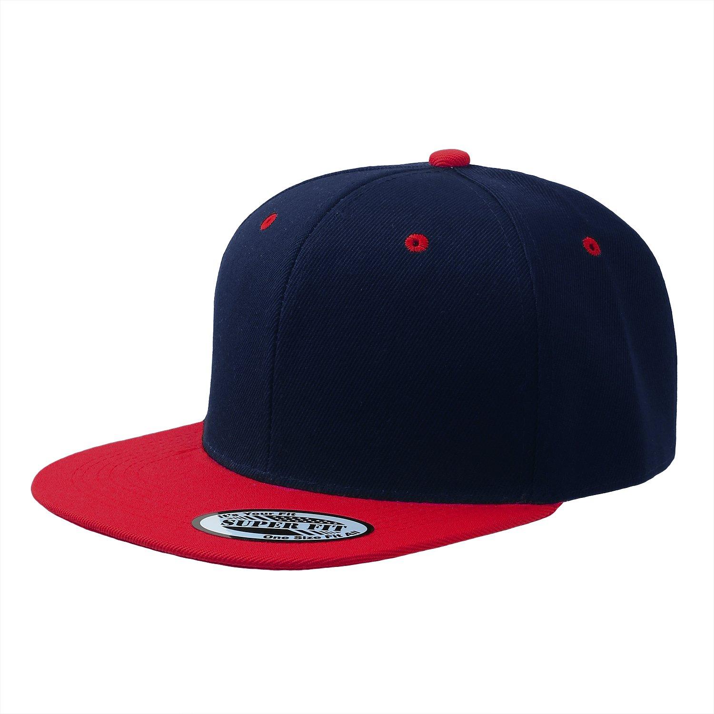93b058c7 Blank Adjustable Flat Bill Plain Snapback Hats Caps (All Colors) (One Size,  Black) at Amazon Men's Clothing store: