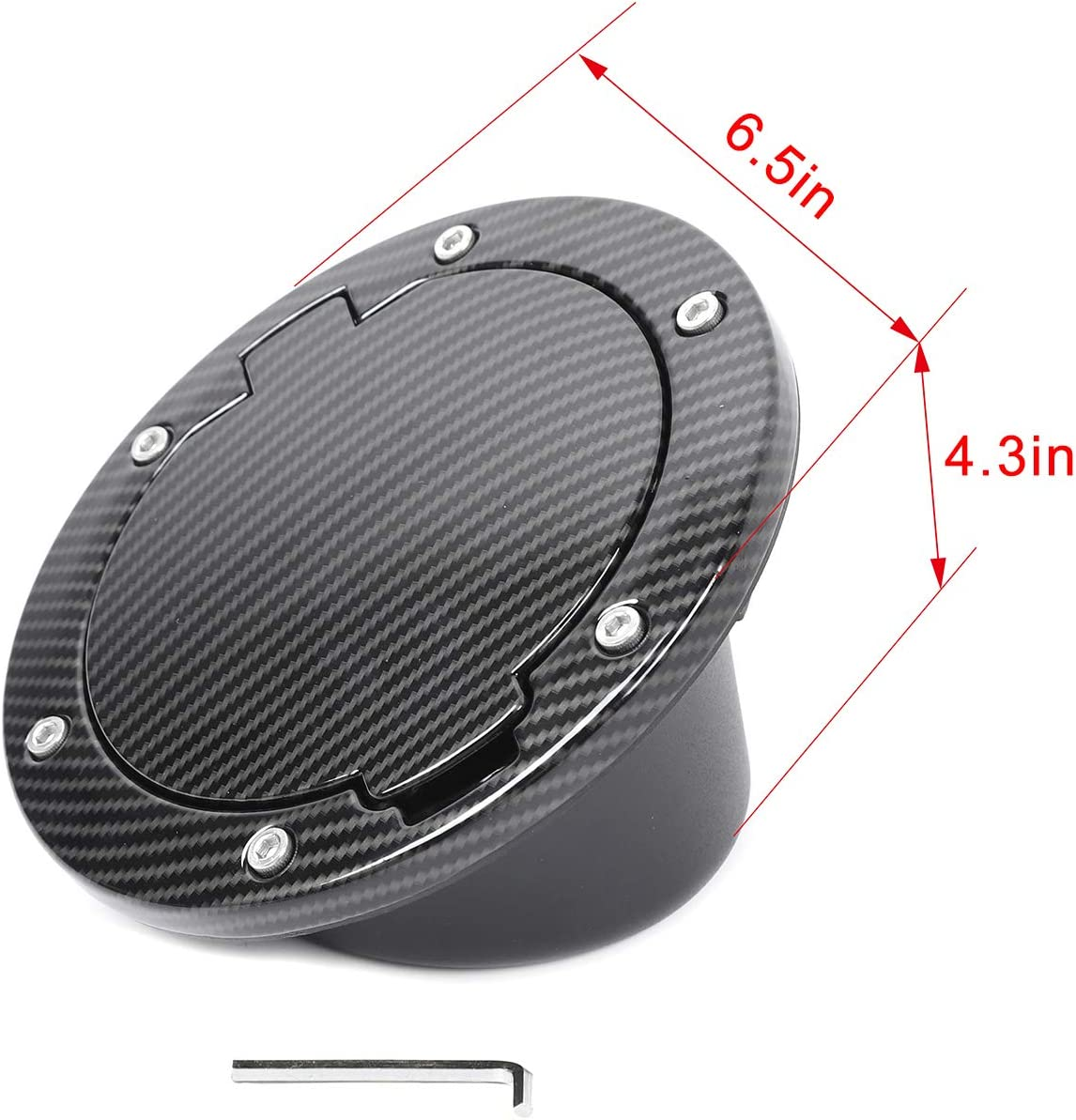 Carbon Fiber RT-TCZ Fuel Filler Door Gas Tank Cap Cover Accessories for 2007-2017 Jeep Wrangler JK /& Unlimited Sport Rubicon Sahara