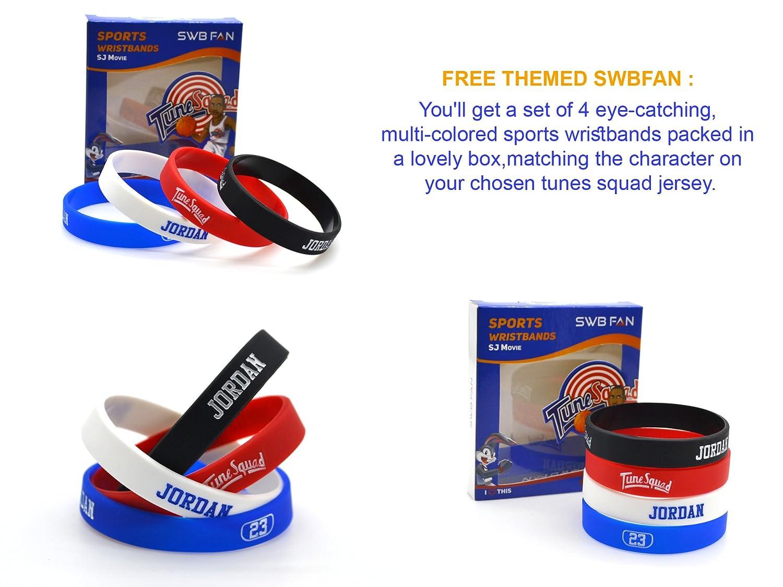 swbfan Espacio Jam Camiseta # 23 Michael Jordan Tune Squad Baloncesto Jerseys Movie Inspirado - Looney Tunes diseño incluyen swbfan Caja de 4 temática de ...
