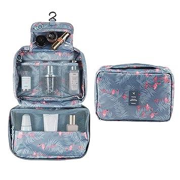 d125ca543d27 Hanging Travel Toiletry Bag, Astory Waterproof Cosmetic Bag Makeup Travel  Organizer Folding Portable Wash Bag for Women and Girls (Flamingo)