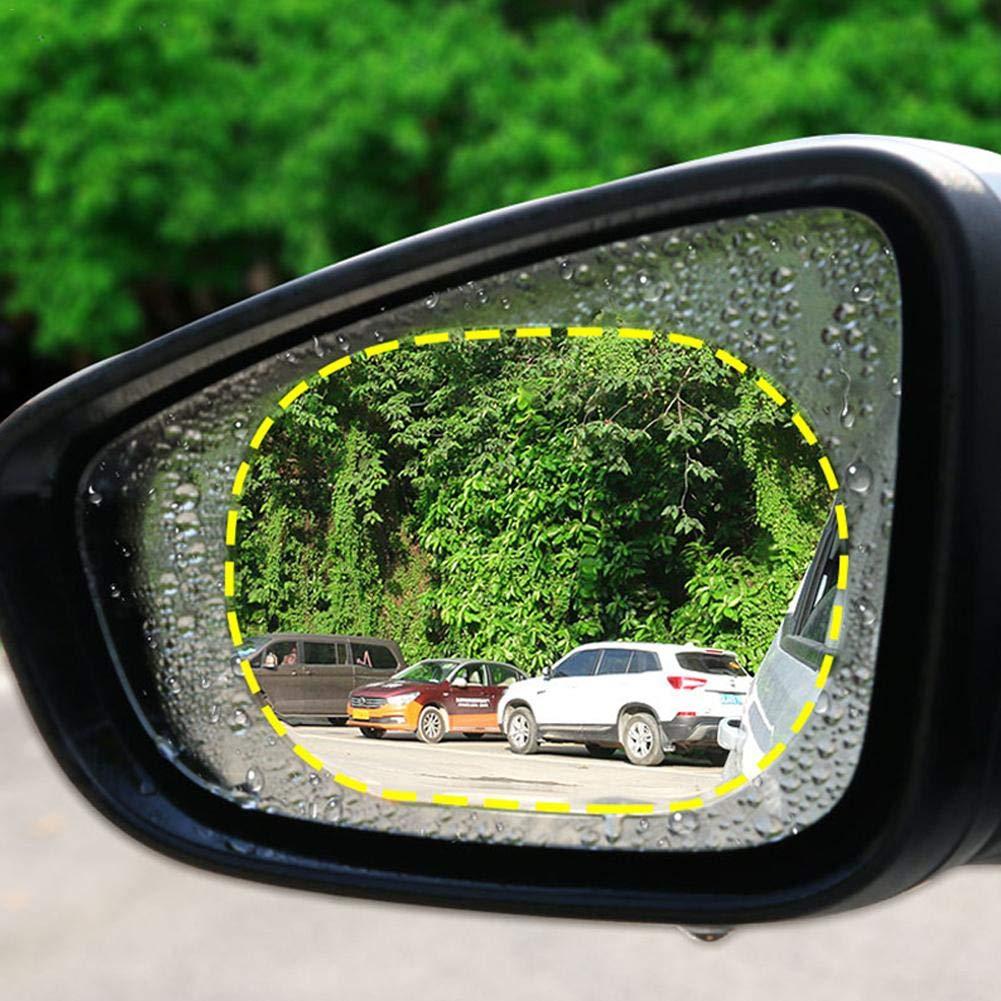 2 PCS Nano Rivestimento Pellicola Protettiva Impermeabile Pellicola Per Auto Specchietto Retrovisore Pellicola Impermeabile Antiappannamento Pellicola per vetri laterali Per Antipioggia,antiabbagliame