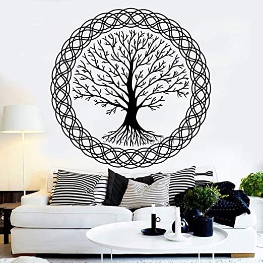 YuanMinglu Meditación Zen Tree Tatuajes de Pared Vinilo Arte Vida ...