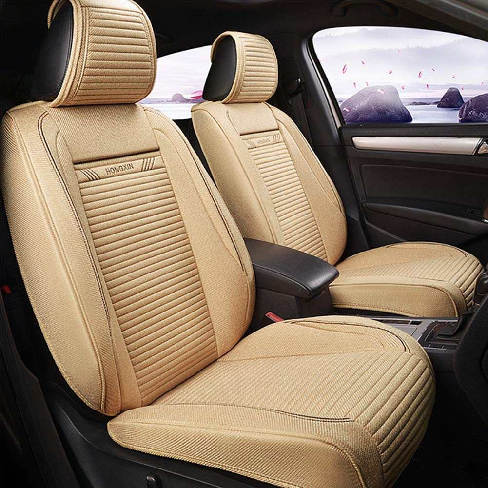 Warmrice Car Seat Cushion Summer Ice Silk Linen Breathable Seat Cover Four Seasons Universal Seat Cushion