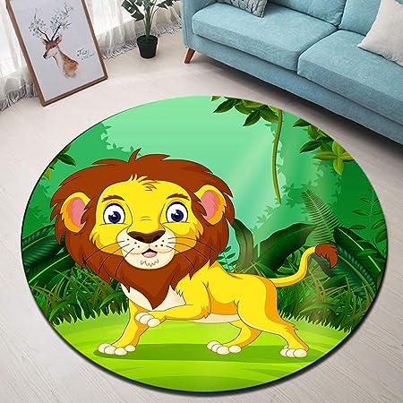 LB Lindo león Alfombra Redonda Bosque Verde Tropical ...
