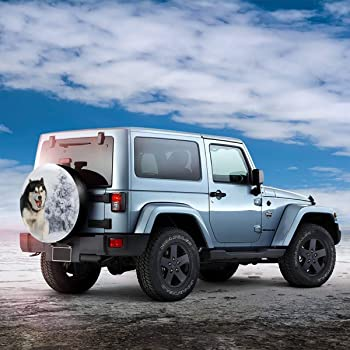 Rv SUV and Many Vehicle 14 15 16 17 MSGUIDE Happy Camper Spare Tire Covers Universal Wheel Cover Fit for Jeep,Trailer
