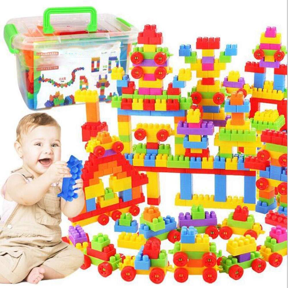 SCYTSD Juego Bloques De Construcción, Piezas para Combinar y Aprender Colores Y Figuras. Juguete para Niños de 2 Años en adelante,B100