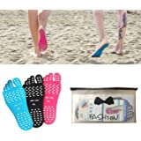 Fairydreamy Beach Barefoot Adhesive Foot Pads,5 Pairs Unisex Adults Invisible Shoes Stick on Soles,Non-Slip and Waterproof fo