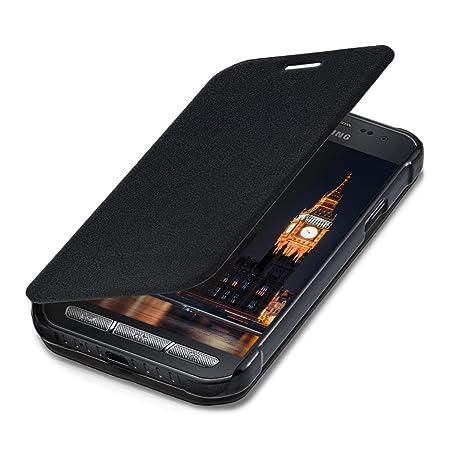 kwmobile Samsung Galaxy Xcover 3 Hülle - Kunstleder Handy Schutzhülle - Flip Cover Case für Samsung Galaxy Xcover 3