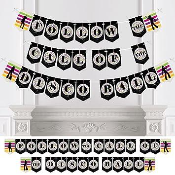 Amazon com: 70's Disco - 1970s Party Bunting Banner - Disco