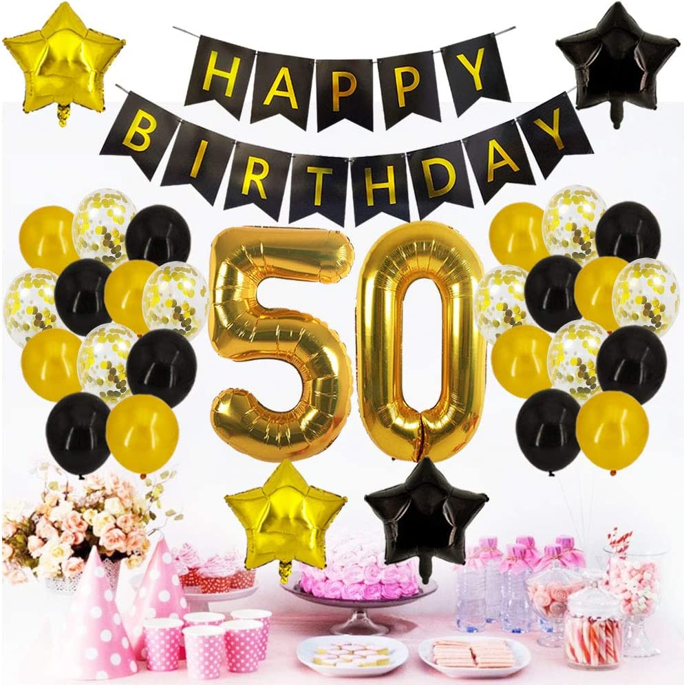Amazon.com: 50th cumpleaños decoraciones – 50th número ...