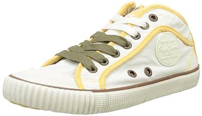 London, Sneakers Basses Femme, Blanc (White), 38 (EU)Pepe Jeans London