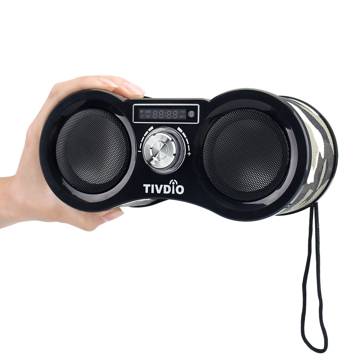 TIVDIO V-113 Portable Transistor FM Stereo Radio Support Mp3 Music Player Speaker Micro SD IF Card Aux Line In Remote(Camouflage) by TIVDIO (Image #6)