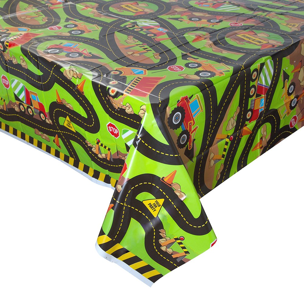 Bauwagen Tischdecke mehrfarbig