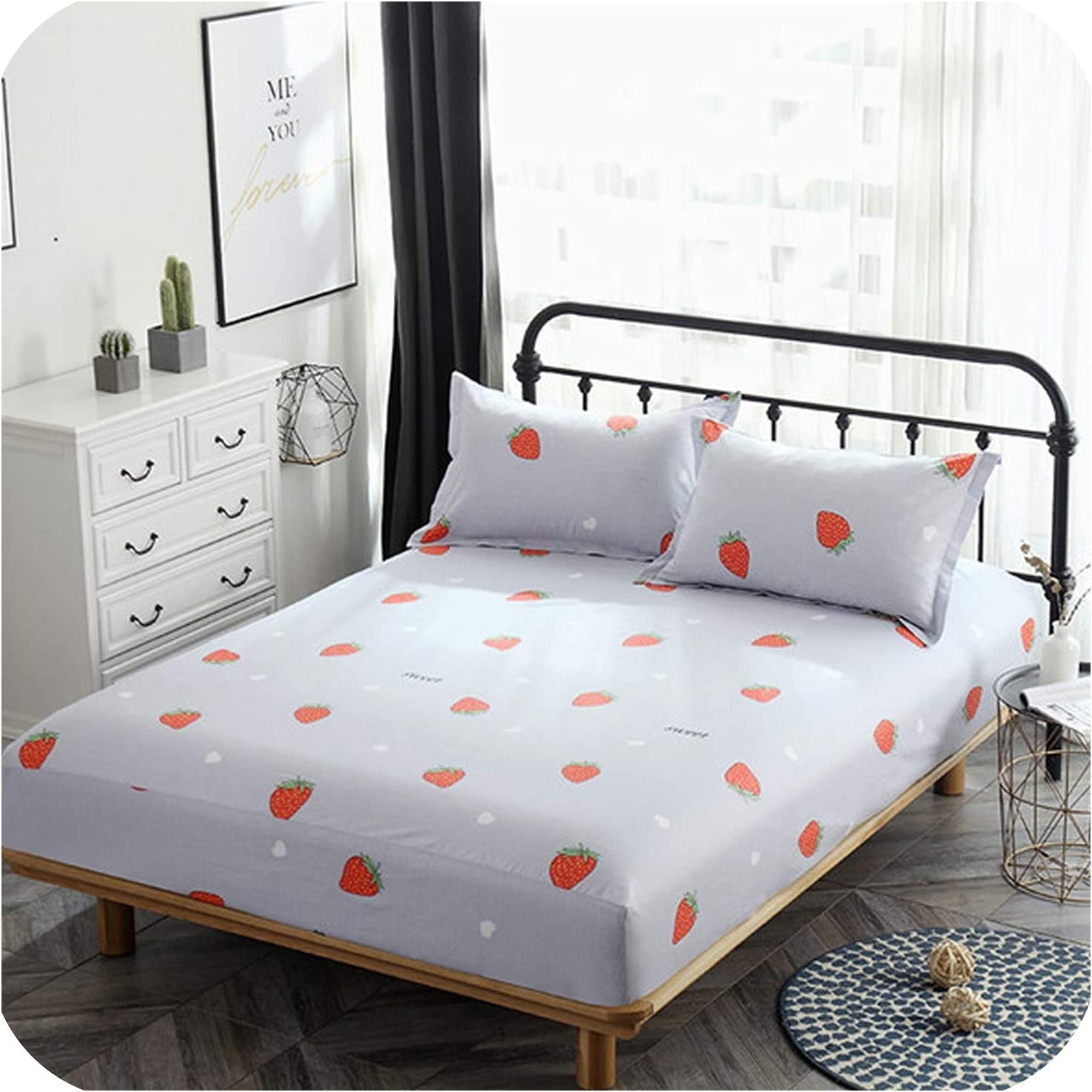 Home Bedroom Decors Bed Fitted Elastic Sheets Single Double King Bedding Cover