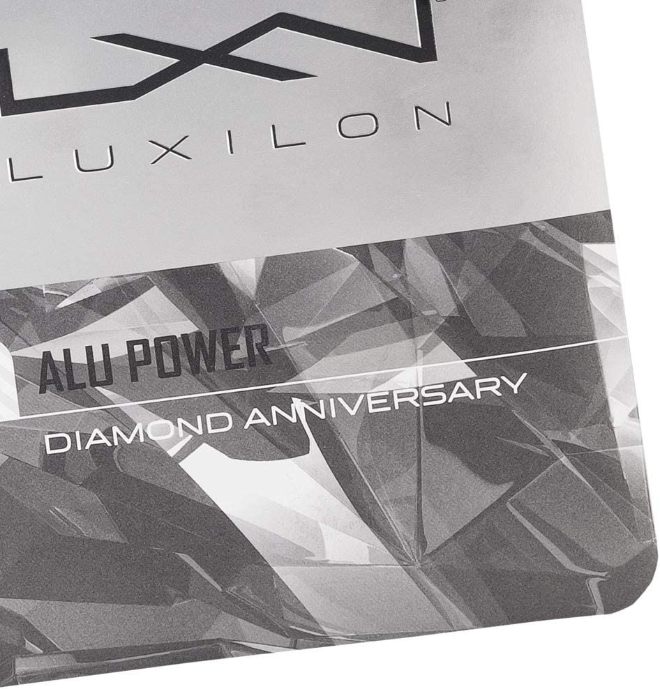 Luxilon ALU Power Diamond Edition 130 17g Silver Tennis String Set Control and Spin Potential Best Racket String for Power